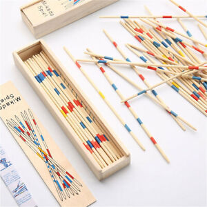 Educational Wooden Traditional Mikado Spiel Pick Up Sticks With Box Game For Kid