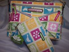 LILY Bloom,  Tic Tac Toe Candace Mid Crossbody & Matching Wallet, Matching Set