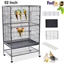 52-inch Large Parrot Bird Cockatiel Lovebird Conure Flight Cage with Stand