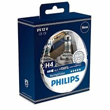 Philips RacingVision 150 H4 Headlight Bulb 12342RVS2, Twin Pack