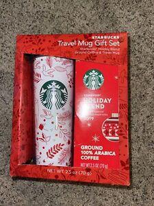 Starbucks Holiday Blend Coffee & Travel Mug Gift Set Christmas Tumbler new