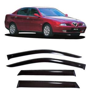 For Alfa Romeo 166 Sd 1998-2007 Window Visors Side Rain Guard Vent Deflectors