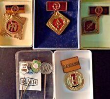 Vintage RUSSIAN SOVIET UNION USSR PIN MEDAL BADGE LOT COLLECTION Russia