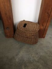 Large Antique Trout Fishing Creel Basket 19th Century Vintage