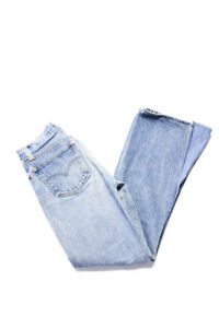 RE/DONE Womens The 70'S High Rise Cuffed Bell Bottom Jeans Blue Stone Size 25