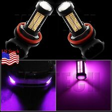 2X H11 H8 Purple 106SMD 4014Chip Auto LED Bulbs For Car truck Fog Lights Lamp