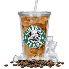 Liberal Tears (16 oz. Double Wall Acrylic Tumbler With Straw)