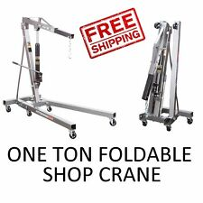 1 One Ton Engine Motor Hoist Cherry Picker Shop Crane Lift - Foldable - NEW