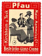 KIRCHHEIM/teck Paon Maier mammele cuir-Brillance-Crème * publicité VIGNETTE de 1...
