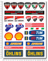 DUCATI CORSE sponsors decal set stickers Panigale Multistrada Monster 848 1199