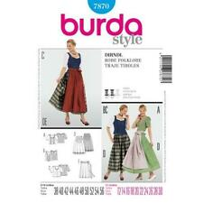 Burda Sewing Pattern 7870 Misses Dirndl Dress Skirt Apron Size 12-28 Uncut