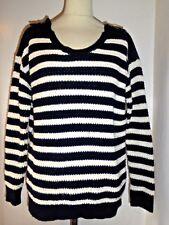 TOPSHOP  oversized striped stripey jumper top UK 10