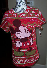 New listing Nwt Disney Parks red Christmas size large L Lg t-shirt Mickey Mouse Cute!