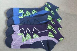 2 Pairs Salomon Hornet Trail Running Socks Blue / Purple 6-9