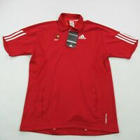 Adidas Mens Golf Polo Shirt Red Short Sleeve Shirt New Small Casual Climacool