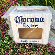 Corona Extra Light Lime Lemon Holder Cerveza Beer Bar Man Cave Pub Wood Sign Box