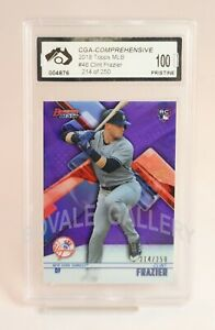 2018 Topps Clint Frazier Rookie Refractor Card Graded PRISTINE