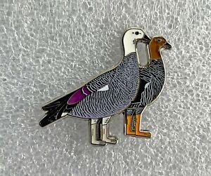 Magellan (Upland) Goose Bird Pin Badge, RSPB interest. Limited Edition