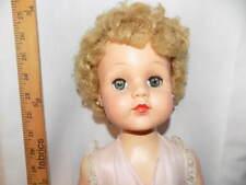 "Vintage 27"" 1950s EEGEE Head Turning Walker Doll - Hard Plastic - Toddler"