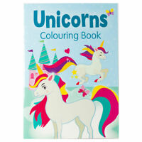 Unicorns Colouring Book Blue - Children's activity book for kids aged 3+