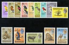 Bechuanaland 1961 QEII Pictorial Definitives set complete MLH. SG 168-181