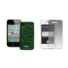 Green Zebra Hard Stealth Case Cover+LCD Screen Protector for Apple iPhone 4 / 4S