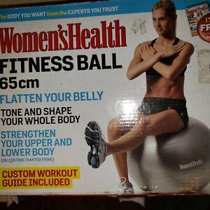 Women's Health Fitness Ball 65 CM  Flatten belly,  Strengthen,Tone Whole Body.