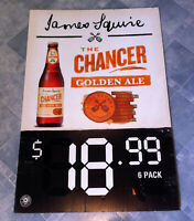 Vintage James Squire Beer Double Sided Corflute Advertising Display Sign