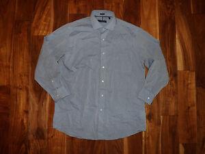 NWT Mens TOMMY HILFIGER Blue Polkadot Regular LS Dress Shirt XXL 18 34/35