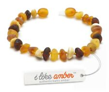 Baltic RAW Amber Bracelet & Necklace Genuine Amber Beads Adult Size SET possible