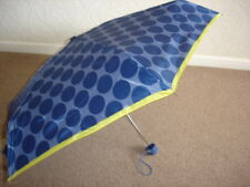 Totes Mini Navy Blue Large Spots Thin Umbrella (5 Section)