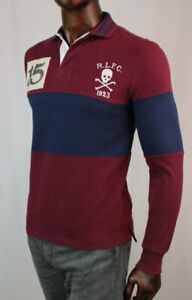 POLO Ralph Lauren Long Sleeve Rugby~Skull And Crossbones~CUSTOM SLIM FIT~NWT
