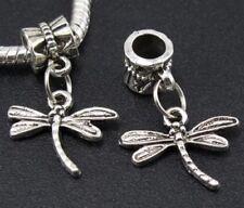 Libelulas charms plata pulsera europea y compatibles 2 unidades