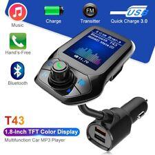 Bluetooth Car Kit Handsfree Call USB QC30 Quick Charge FM Transmitter MP3 Player