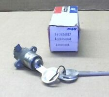 NOS Mopar 3454987 Console Lock w/ 2 Pentastar Keys 1970 1971 1972 73 74 E Body