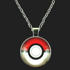 Pokemon Go pikachu Pokeball Cosplay Long Necklace Metal Ultra Poke Ball