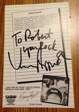 Vinnie Appice signed drum clinic flyer 1980's Mint