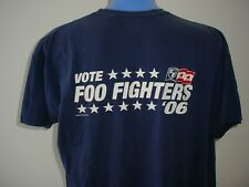 Vote Foo Fighters 06 Ed and Teds Excellent Lighting T Shirt Xxl Cat Hair