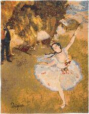"""NEW 24"""" 61CM EDGAR DEGAS BALLET DANCER BELGIAN TAPESTRY WALL HANGING"""