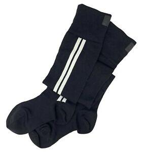 Authentic CHANEL Vintage Coco Mark Logo Over Knee Socks #S Wool Black RankAB