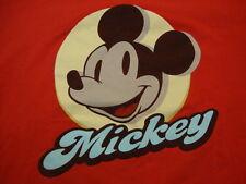 Mickey Mouse Disney retro Cartoon Disneyland Vacation Red T Shirt Men's size XL