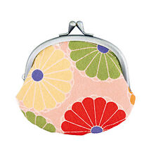 NEW Ladies Japanese Style Gamaguchi Coin Purse Pink Made in Japan