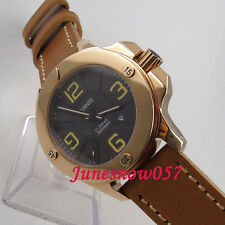 Parnis 47mm gold case mens watch 619 sapphire crystal MIYOTA Automatic movement