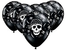 Pirate Skull and Crossbones x 6 latex balloons Boys Party Decoration Neverland