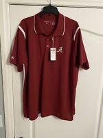 NWT Antigua Golf L NCAA Alabama Crimson Tide Golf Shirt