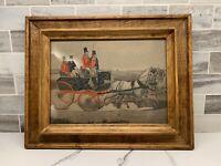 Framed Antique A HUNTING PHAETON Print