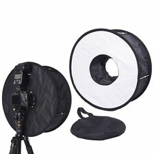 45CM Macro Ring Flash SoftBox Diffuser for Canon 600EX-RT 580EX II 430EX 540EX