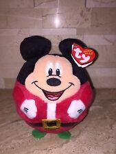Ty Beanie Ballz Mickey Mouse Santa Figure