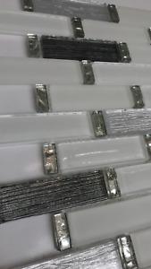 White Silver Glass Mosaic Tile | 1 sheet 30cmx30cm&8mm | 11 sheets 1sqm