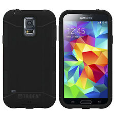NEW GALAXY S5 TRIDENT AEGIS SILICONE TOUGH HARD CASE COVER BLACK SSGXS5- BK000